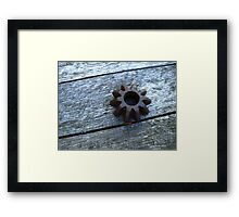 .the difference. Framed Print