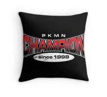 Pokemon Champion_Red_DarkBG Throw Pillow