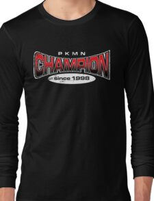 Pokemon Champion_Red_DarkBG Long Sleeve T-Shirt
