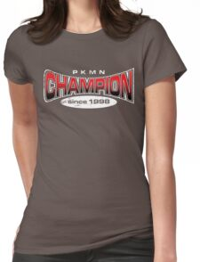 Pokemon Champion_Red_DarkBG Womens Fitted T-Shirt