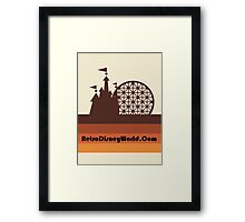 Retro Disney World Block Logo Framed Print