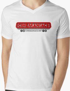 Cinemaniacs 3D LOGO [on white] Mens V-Neck T-Shirt