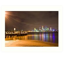 Perth over Swan Lake Art Print