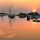 Harbor Sunset by Michael  Petrizzo