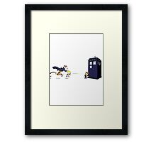 Calvin the Time Lord Framed Print