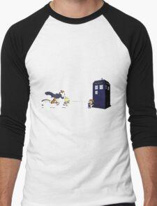 Calvin the Time Lord Men's Baseball ¾ T-Shirt