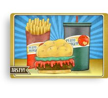 Pluto Burger Canvas Print