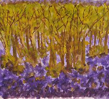 Memories Of Love Amidst A Scented Carpet Of Bluebells by Medusa