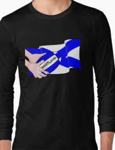 Rugby Scotland Flag Long Sleeve T-Shirt