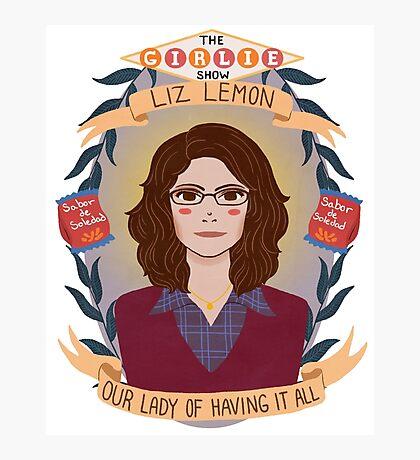 Liz Lemon Photographic Print