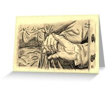Hands in sepia Greeting Card