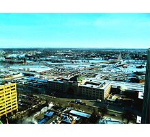 Winnipeg from Above in the Winter Photographic Print