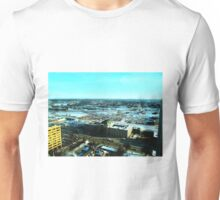 Winnipeg from Above in the Winter Unisex T-Shirt