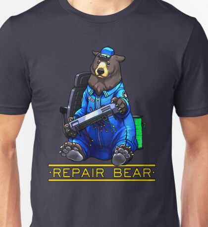 Repair Bear - Black Bear Unisex T-Shirt