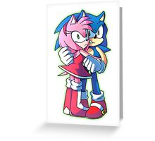 Sonic and Amy Rose (Sonamy) Greeting Card