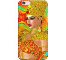 Egyptian queen adorned with gold iPhone Case/Skin