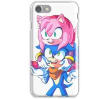 Sonic Boom - Sonic & Amy Rose (Sonamy) iPhone Case/Skin