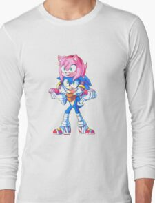 Sonic Boom - Sonic & Amy Rose (Sonamy) Long Sleeve T-Shirt