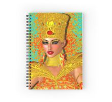 Egyptian queen adorned with gold jewelry and armor.  Spiral Notebook
