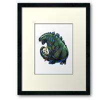 Godzilla Chibi Framed Print