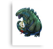 Godzilla Chibi Canvas Print