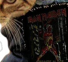 Iron Maiden Cat Sticker