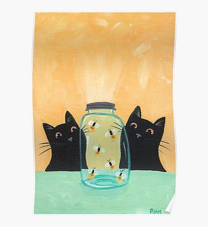 Fireflies in the Mason Jar Poster