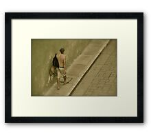 """The walking man walks on by..."" Framed Print"