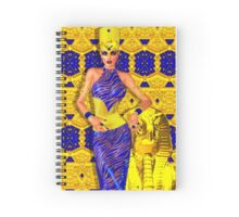 Seductive Egyptian woman in gold and blue. Spiral Notebook