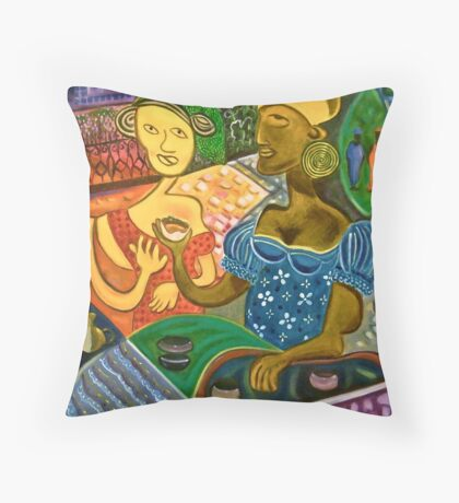 Acarajé seller (Jacantti) Throw Pillow