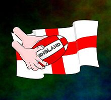 Rugby England Flag by piedaydesigns