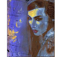 Brunette woman in a beautiful abstract. Photographic Print