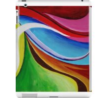 Abstract Sunset over Hills iPad Case/Skin