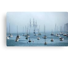 Sailing into the Fog   Canvas Print