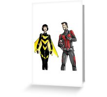 Wasp and Antman Greeting Card