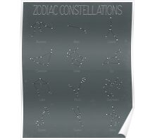 Zodiac Constellations - Dark Poster