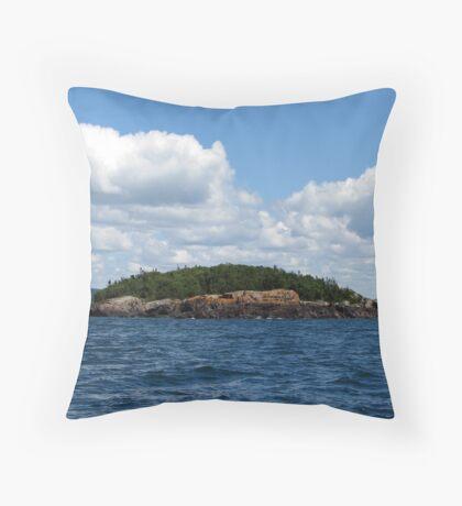 Lake Superior Afternoon ride - Marathon Ontario Canada Throw Pillow