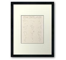 Zodiac Constellations - Light Framed Print