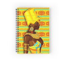 A powerful black Egyptian princess adorned in gold Spiral Notebook