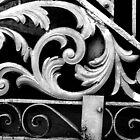 Gate Detail B&W- New Orleans, Louisiana, USA by ArtsGirl2