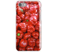 A pile of red peppers iPhone Case/Skin