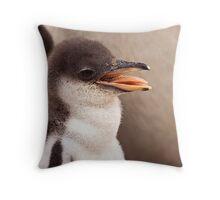 Gentoo Penguin Chick Throw Pillow