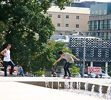 City skateboarders 2 by Maggie Hegarty