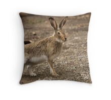crazy rabbit Throw Pillow