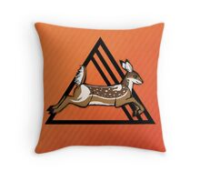 Deer Sunset Throw Pillow