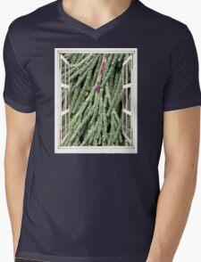 New Needle Growth Mens V-Neck T-Shirt