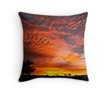 Sunset over the Coal Fields - Coppabella, Queensland Throw Pillow