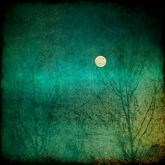 Moon over green... by Julian Escardo