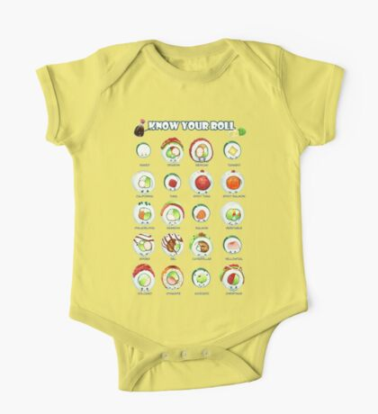 Know Your Roll - Cute Educational Sushi One Piece - Short Sleeve