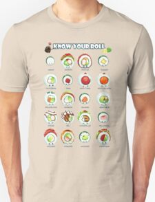 Know Your Roll - Cute Educational Sushi Unisex T-Shirt